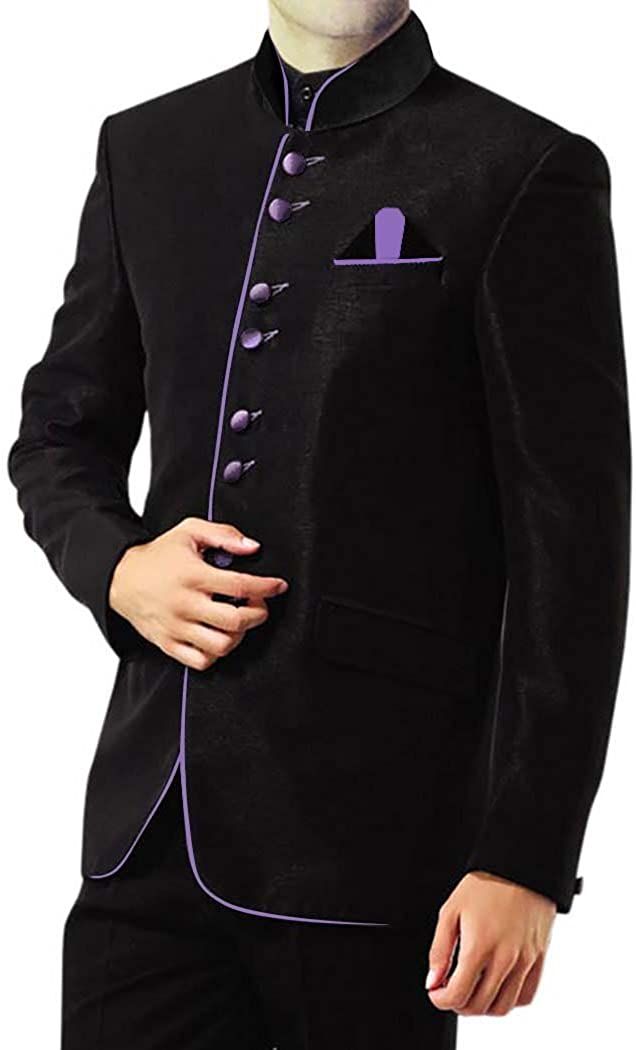 INMONARCH Mens Black 3 Pc Jodhpuri Suit Ethnic Prince JO180