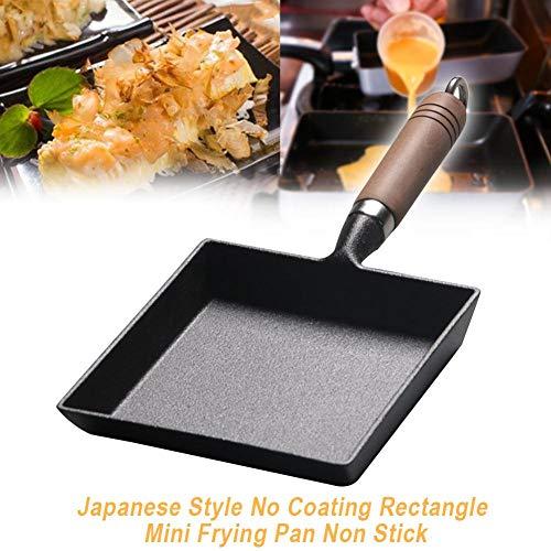 EDCV Omelet hittebestendige koekenpan met antiaanbaklaag Geen coating Gietijzer Mini Japanse keuken verdikt