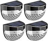 LOPSNNA Solar Fence Lights,Solar Wall Lights, LED Street Lights,Waterproof Outdoor Solar Lamp