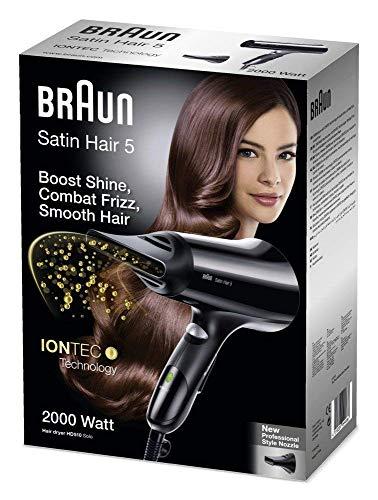 Nevir NVR-2203 S-Ion Pro 2200W Negro - Secador de pelo (Negro, Con agujero en la empuñadura para colgar, 1,8 m, 2200 W, 240 mm, 75 mm)