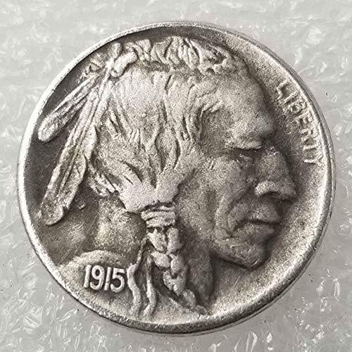 YunBest Best Morgan Silber-Dollars – Hobo Nickel Münze – 1915 Münze zum Sammeln – Silber-Dollar USA Old Morgan Dollar BestShop