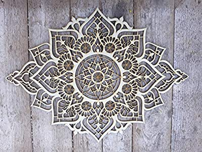 Mandala Wood Home Decor, Boho Ethnic Housewarming Wall Hanging, Morrocan Indian Wall Art, Sacred Geometry Yoga Studio, Unique Handmade Spiritual Gift from