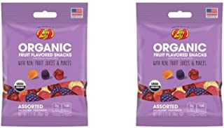 Jelly Belly Organic Fruit Snacks Gummies (Pack of 2)