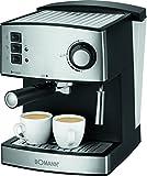 Bomann es 1185CB–Cafetera espresso, acero inoxidable, presión de vapor frontal...