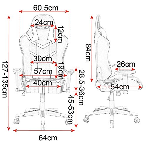 WOLTU® Racing Stuhl Chefsessel Bild 6*