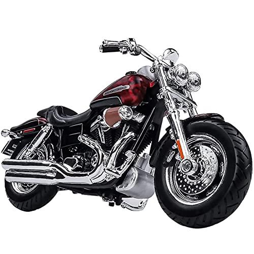 PPQQBB Boutique para Harley-Davidson 1:18 Motocicleta Modelo 2009fat Bob Aleación Locomotora Adulto Regalo Colección Decoración