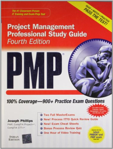 Pmp Project Management Professional Study Guide , 4Ed