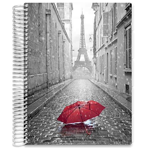 Tools4Wisdom Hardcover Daily Planner 2021 - Starting November 2020 to December 2021-14 Month Nov Start Calendar 2020-2021 Planner - 8.5 x 11 Hardbound - Business Neutral B&W Pages - Q4NOV