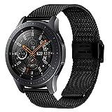 時計バンド ベルト、 Fullmosa 全6色 Smart watch バンド マグネット式 腕時計バンド ベルト ウォッチバンド ミラネーゼ メッシュバンド 交換ベルト ブラック 16mm
