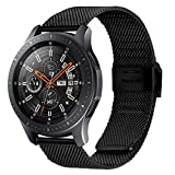 Fullmosa Quick Release Watch Band 22mm,Stainless Steel Watch Band Bracelet for Samsung Gear S3 Classic/Frontier/Galaxy Watch (46mm),Huawei Watch 2,Moto 360 2nd Gen 46mm,Garmin Watch, Black