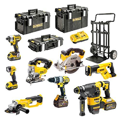 DEWALT Kit DCK-FR833MP4 54V/18V (DCD996 + DCG412 + DCH333 + DCS387 + DCS391 + DCS331 + DCL040 + DCF887 + 2 x 5,0 Ah 18V + 2 x 6,0 Ah 54V/18V + DCB118 + DS150 + DS300 + DS400 + Caddy)