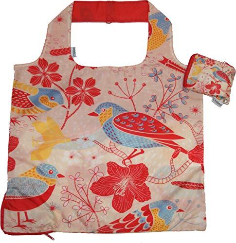 Chilino Nature Faltbare Mehrwegtasche/Umweltfreundlich/Hohe Tragkraft und Fassungsvermögen, Polyester, rot, orange, 47 x 41 cm