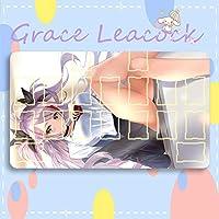 GraceLeacock カードゲームプレイマット 遊戯王 プレイマット Azur Lane アズールレーン Prinz Eugen プリンツ・オイゲン アニメグッズ TCG万能 収納ケース付き アニメ 萌え カード枠あり (60cm * 35cm * 0.4cm)