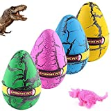Hatching Growing Dinosaur Toys, YKL World Magic 4 Pack Large Size Grow Dinosaurs Egg That Hatch in Water Easter Dino Eggs Party Favor Gifts for Kids