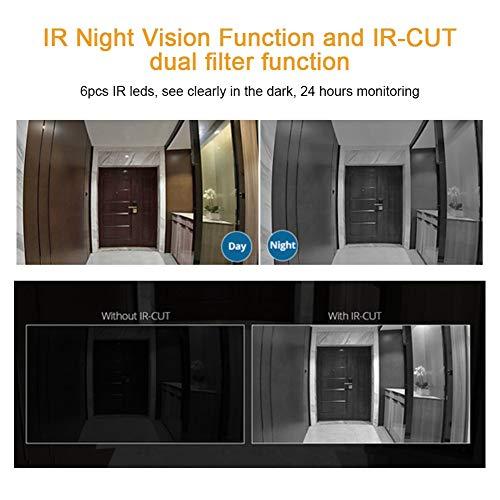 Bewakingscamera, IP66 waterdichte bescherming, 104 graden groothoek, 1080p HD-camera, IR-nachtzichtfunctie, met geavanceerde bewegingssensor en realtime waarschuwing, draadloze camera