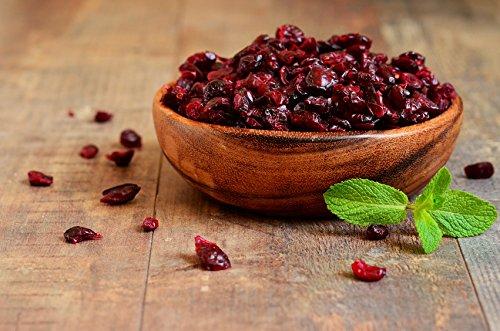 Dorimed - Baies de Cranberries,Canneberges séchées, entières, déshydratées, sachet refermable, 1 Kg