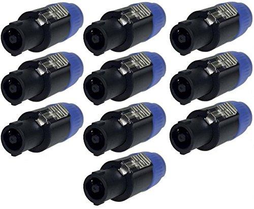 10x Adam Hall 7871 - PA Lautsprecher Stecker 4 polig schraubbar, Speaker-Stecker Kabelstecker
