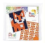 Pracht Creatives Hobby P23001 Pixel Set Medaillon Fuchs, Schlüsselring, Anhänger, für Kinder, Jungen und Mädchen, ideal als kleines Geschenk, Mitgebsel, für den Kindergeburtstag, bunt