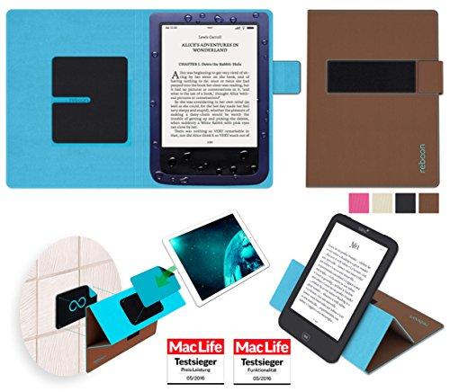 Hülle für PocketBook Aqua Tasche Cover Hülle Bumper | in Braun | Testsieger