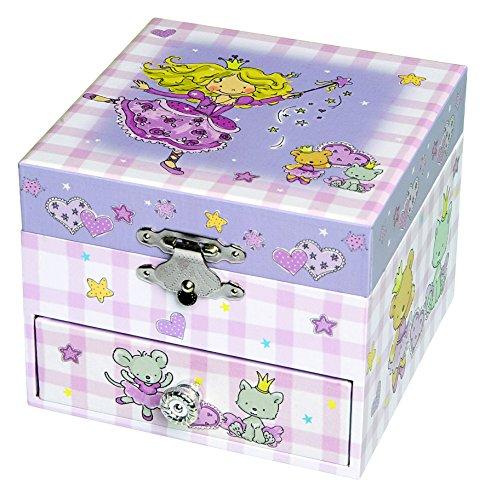 Trousselier - Prinzessin - Musikschmuckdose - Spieluhr - Ideales Geschenk für junge Mädchen - Musik Feelings - Farbe violett