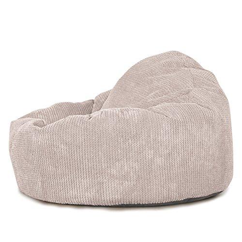 Lounge Pug®, \'Mini-Mammoth\' Sitzsack, Sessel, Pom-Pom Creme