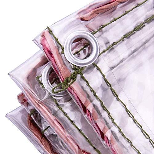 NEVY dekzeil dekzeil 0,4 mm zware belasting transparante tarps waterdicht scheurvast zacht transparante isolatiefilm Sunshading schaduw doek - 500 g / M2 afdekzeil dekzeil beschermhoes tuinmeubel