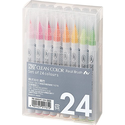 Kuretake ZIG Clean Color Real Brush 24VRB-6000AT/24V (japan import)