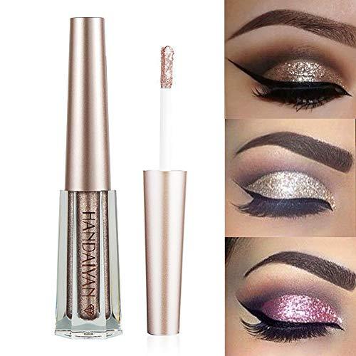 GL-Turelifes Glitter Liquid Eyeshadow Starry Paillettes Mermaid Eye Shadow Long Lasting Waterproof Sparkling Shimmer Eyes makeup (# 10 Caffè)