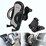 Car Phone Mount,OHLPRO 2-in-1 Phone Holder Car Air Vent Universal Stick on Dash Dashboard Mount 360°Rotating Adjustable for iPhone Samsung Sony Google All 4'- 6.4' Smartphones