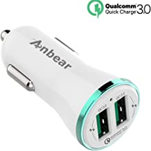 Car Charger Quick Charge 3.0,Anbear Dual USB Car Charger 36W for Google Pixel, Nexus, HTC 10, LG V6 / V20, Galaxy Note8 / S8 / S8+ / S7 / S6 / Edge/Plus/Note 5/4 and More