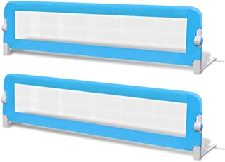 vidaXL 2X Toddler Safety Bed Rail Blue 150x42cm Baby Protective Guard Gate
