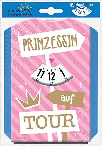 Eigenart Spaßscheiben Parkscheiben mit Sprüchen Multifunktions-Parkscheibe Gummiabzieher Eiskratzer Eisbrecher (Prinzessin auf Tour)