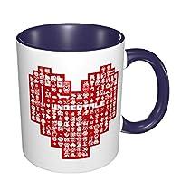 マグカップ コーヒーマグ ティーマグ 陶器 上品 プレゼント Undertale アンダーテイル かわいい 飲み水 お茶 コーヒー ジュース ビール ワイングラス 大容量 おしゃれ 電子レンジ 食洗機対応