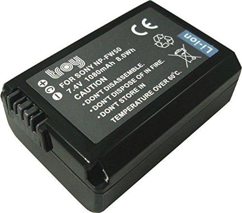 Troy Batería de Ion de Litio para Sony NP-FW50, para Sony NEX...