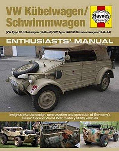 Vw Kubelwagen/Schwimmwagen: Vw Type 82 Kubelwagen 1940-45. Vw Type 128/166 Schwimmwagen 1941-44. Insights into the Design, Construction and Operation ... Second World War Military Utility Vehicles