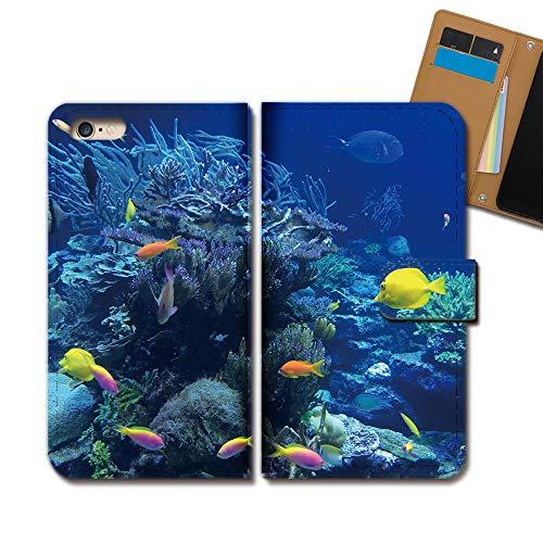 GRATINA KYV48 ケース 手帳型 海 手帳ケース スマホケース カバー 海 スクーバダイビング 熱帯魚 サンゴ E0297030114705