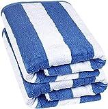 Utopia Towels - Serviette de plage de qualité supérieure, 100% coton filé à l'anneau, drap de bain Jumbo, 600 GSM Hautement absorbant, serviette super douce et à séchage rapide (paquet de 2) (Bleu, 2)