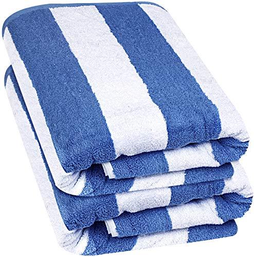 Utopia Towels - Toalla de Playa de Primera algodón Hilado en Anillo Sábana de baño Jumbo, 600 gsm de Alta absorción, Toalla súper Suave y de Secado rápido (Paquete de 2) (Azul, 2)