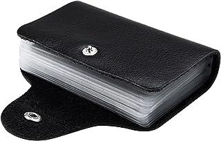 VERSCOS Fashion Business Credit Card Holder Leather Strap Buckle Bank Card Wallet Bag 28 Card Case ID Holder