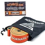 GORNATION Bandas de Resistencia Premium de Doble Capa con Curso de Video y Bolsa - Banda de Fitness para Crossfit, calistenia y Fitness (4 - Naranja (25-60kg Resistencia))