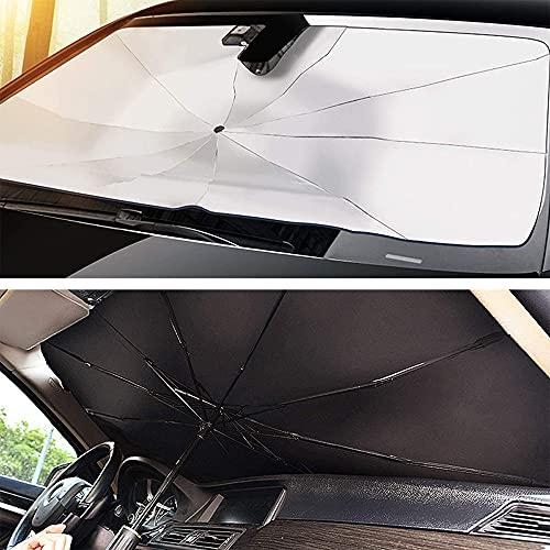 Kozzim車用 サンシェード 軽自動車 日よけ サンシェード 折りたたみ傘仕様 取り付き簡単 収納便利 遮光 遮...