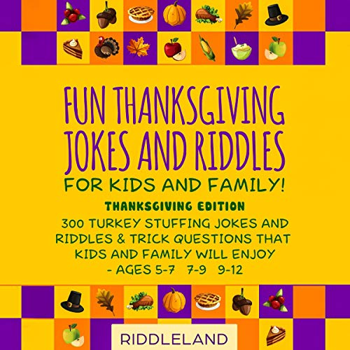 『Fun Thanksgiving Jokes and Riddles for Kids and Family』のカバーアート