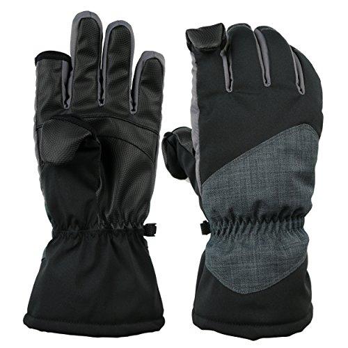 Easy Off Gloves Unisex Thermolite Plegable Guantes con Punta de Dedos - con Cierre de imán - Resistente al Agua ya Prueba de Viento, Ideal para Esquiar, Pescar o fotografiar. (Grande EU 10)