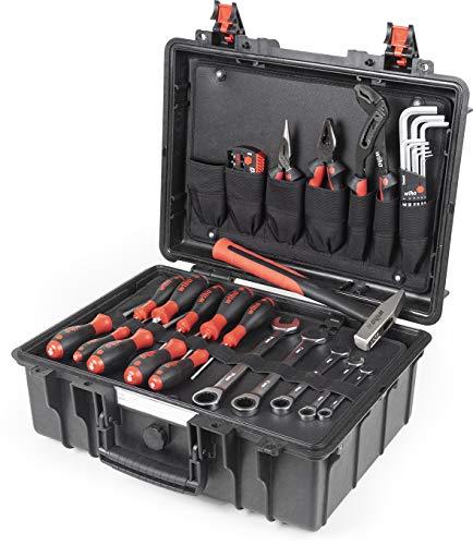 Wiha Lehrlingskoffer Werkzeugkoffer Basic Set L mechanic (44965), Werkzeugkasten Set gefüllt, Werkzeugkiste mit Profi Werkzeug befüllt, Werkzeugbox 40 teilig