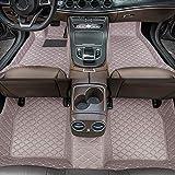 Alfombrillas de Coche para BMW X5 E70 7seat 2008-2013 Antideslizantes Impermeable Rodeado Completo Protección para Todo Clima Revestimientos De Alfombra De Cuero Alfombrilla (Gris)