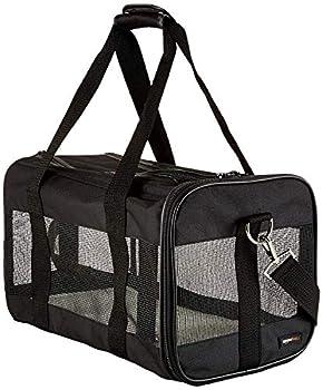 Amazon Basics AMZSC-002 Sac de Transport à Parois Souples pour Animal de Compagnie Noir Taille M