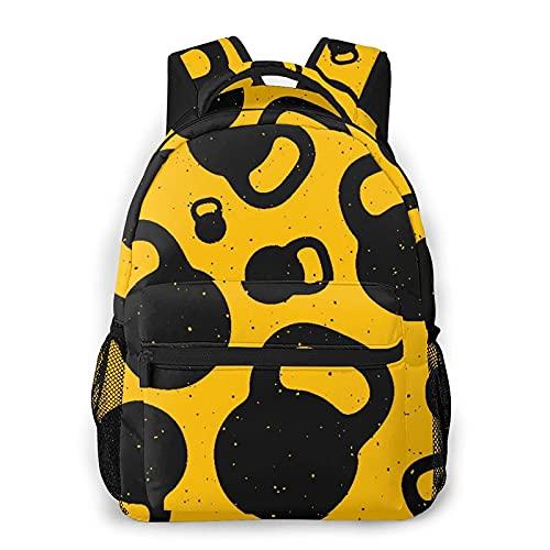 Mochila casual de moda Kettle Bell Adult Teens College Double Shoulder Pack Travel Bag for girls
