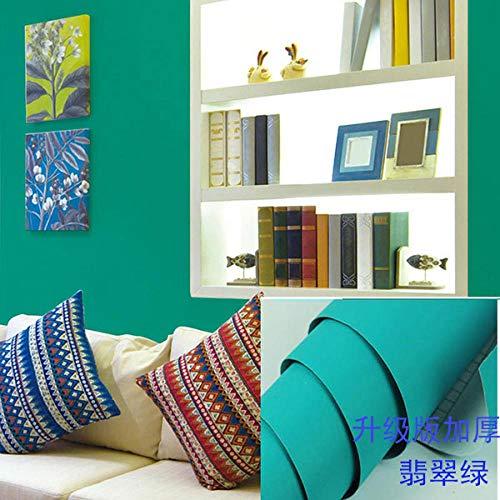 Zelfklevend waterdicht behang vochtbestendig woonkamer TV achtergrond behang muur meubels Renovatie Stickers Emerald Green 61cm Breedte * Lengte 1000cm