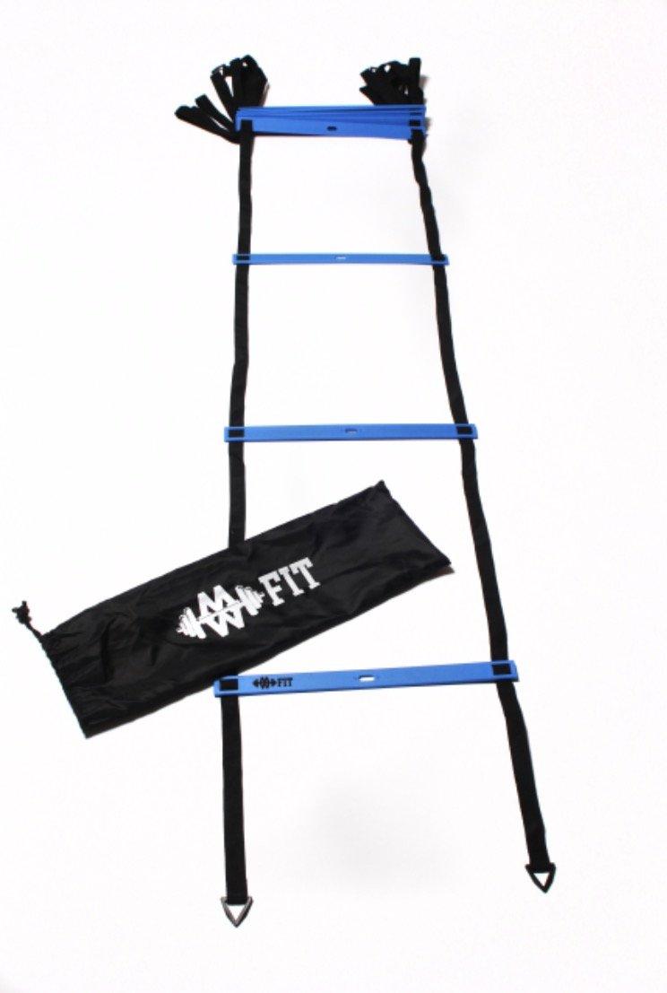MW Fit 12 escalones escalera de agilidad (azul): Amazon.es: Deportes y aire libre