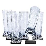 Silwy, bicchieri magnetici in plastica ad alta tecnologia e nano-gel metallici, bicchieri da campeggio, accessori per barche e yacht (birra // 0,5 l)